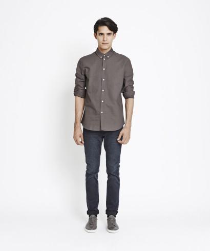 Samsoe Samsoe Liam CX2694 Shirt Dark Shadow 2