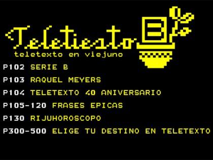 Instalación Teletexto 40 Aniversario: Serie B + Raquel Meyers