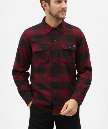 Dickies-Sacaramento-shirt-maroon