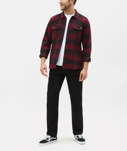 Dickies-Sacaramento-shirt-maroon-1