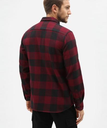 Dickies-Sacaramento-shirt-maroon-2