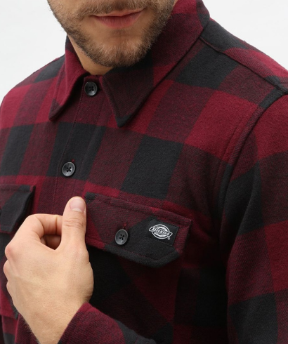 Dickies-Sacaramento-shirt-maroon-3