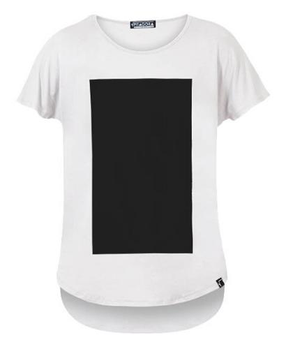 Pitagora_Camiseta_Quadrilateral_Blanco_Negro