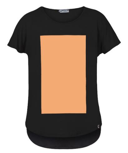 Pitagora_Camiseta_Quadrilateral_Negro_Peach