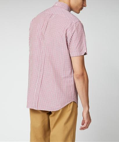 Ben Sherman Camisa Manga Corta Vichy Rojo-3