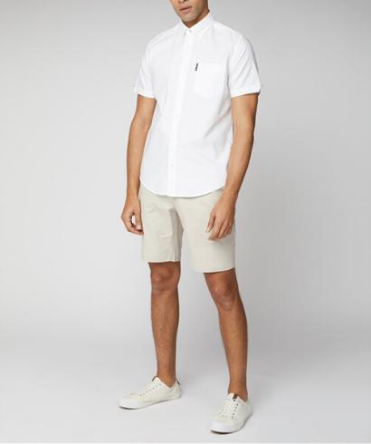 Ben-Sherman-Camisa-Manga-corta-blanco-6