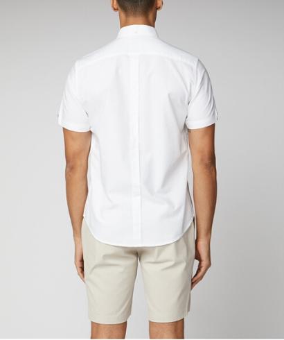 Ben-Sherman-Camisa-Manga-corta-blanco-5