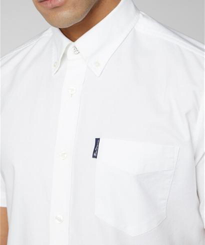 Ben-Sherman-Camisa-Manga-corta-blanco-4