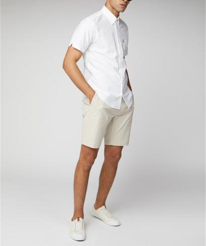 Ben-Sherman-Camisa-Manga-corta-blanco-3