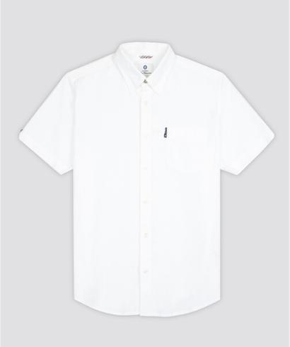 Ben-Sherman-Camisa-Manga-corta-blanco-1