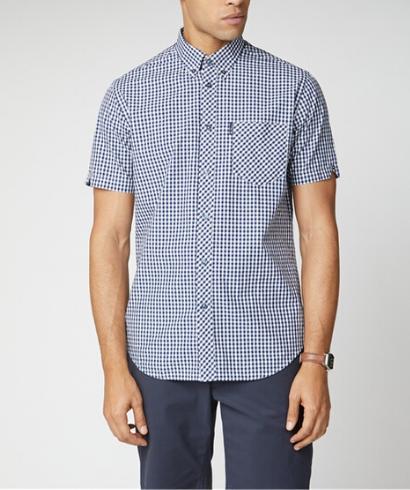 Ben-Sherman-Camisa-Vichy-azul-1