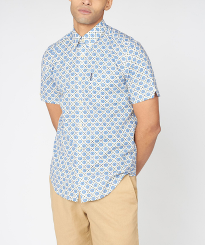 Ben-Sherman-block-floral-shirt-riviera-blue-1