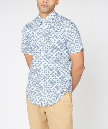 Ben-Sherman-block-floral-shirt-riviera-blue-1