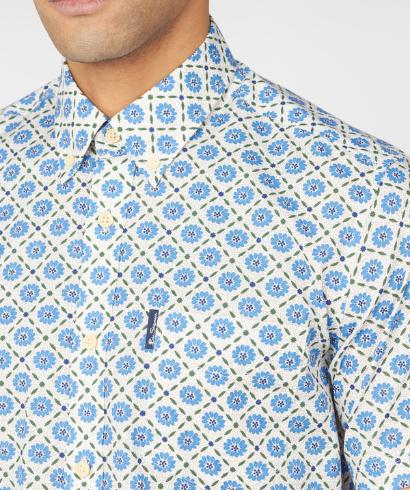 Ben-Sherman-block-floral-shirt-riviera-blue-2
