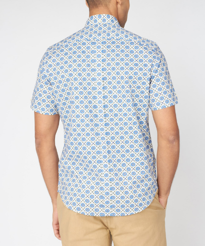 Ben-Sherman-block-floral-shirt-riviera-blue-3