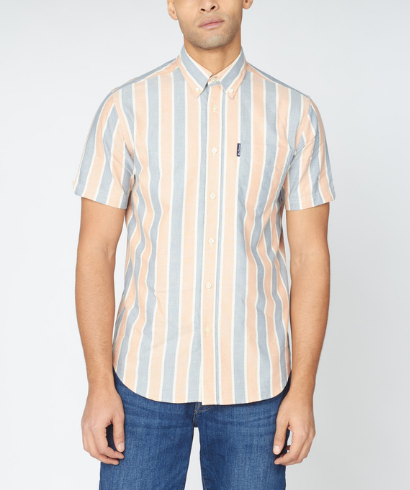 Ben-Sherman-blocked-stripe-shirt-anise-1
