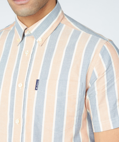 Ben-Sherman-blocked-stripe-shirt-anise-2