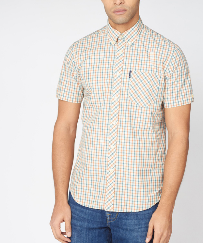 Ben-Sherman-check-shirt-teal-1