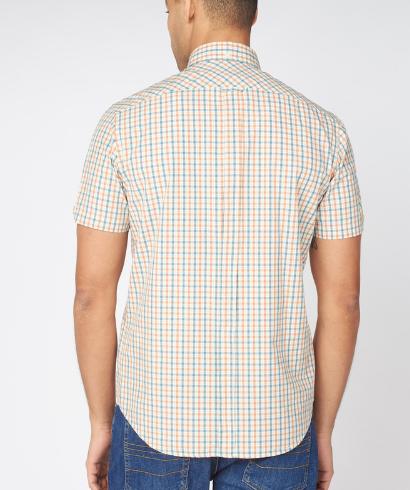 Ben-Sherman-check-shirt-teal-3