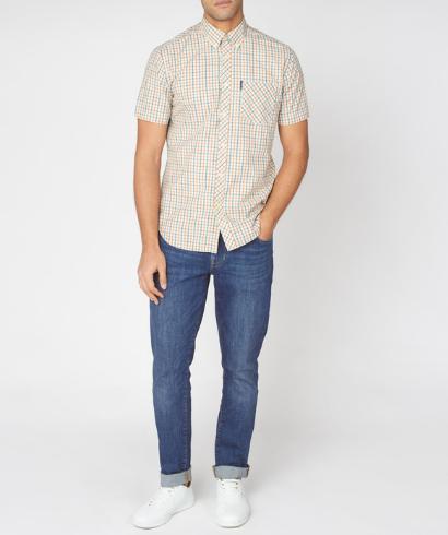 Ben-Sherman-check-shirt-teal-4