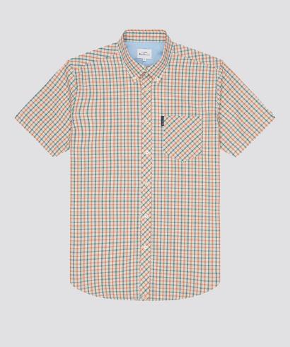 Ben-Sherman-check-shirt-teal-5