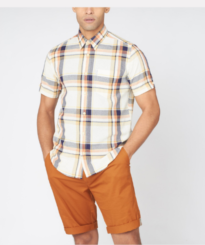 Ben-Sherman-large-oxford-check-shirt-anise-1