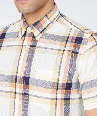 Ben-Sherman-large-oxford-check-shirt-anise-3