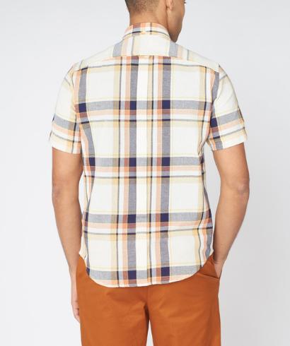 Ben-Sherman-large-oxford-check-shirt-anise-4