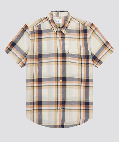 Ben-Sherman-large-oxford-check-shirt-anise-6