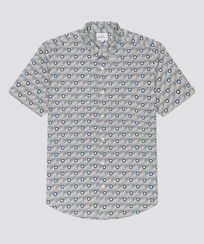 Ben-Sherman-retro-print-shirt-mood-indigo-5