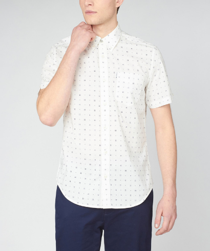 Ben-Sherman-scattered-geo-print-snow-white-shirt-1