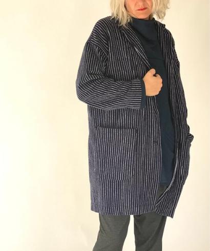 maider alzaga maite blazer rizo azul 2
