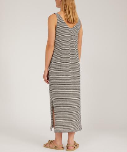 Armedangels-Madalenaa-Stripe-Undyed-Black-Dress-2