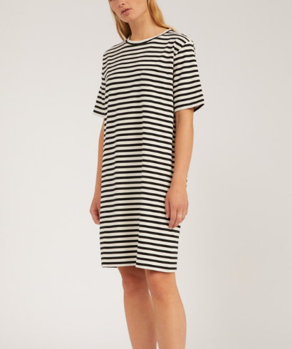 Armedangels-Kleaa-Stripe-Undyed-Black-Dress-1