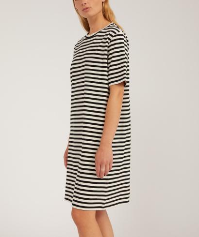 Armedangels-Kleaa-Stripe-Undyed-Black-Dress-3