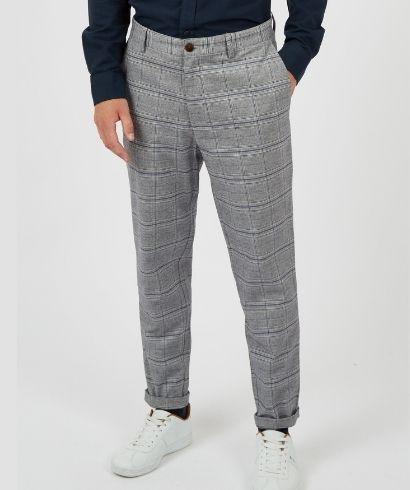 ben-sherman-heritage-check-print-slim-taper-trouser-steel-1