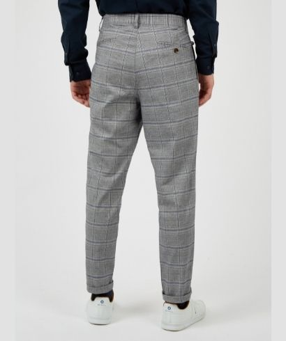 ben-sherman-heritage-check-print-slim-taper-trouser-steel-3
