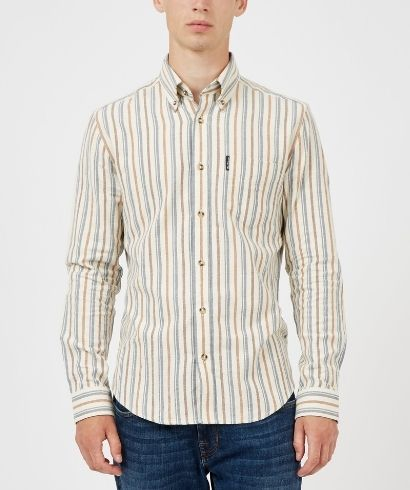 ben-sherman-long-sleeve-brushed-vertical-stripe-shirt-ivory-1