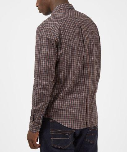 ben-sherman-long-sleeve-mini-check-shirt-coffee-3