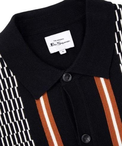 ben-sherman-mod-check-cardigan-black-4