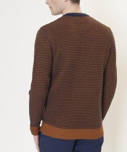 ben-sherman-stripe-crew-knit-caramel-3